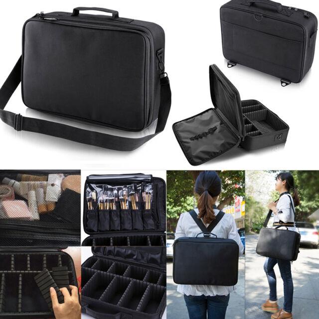 Professional Makeup Bag Cosmetic Case Handle Organizer Storage Artist Travel Kit