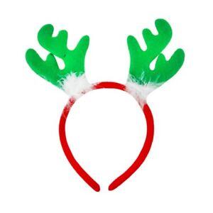 Christmas-Padded-Felt-Reindeer-Antlers-Alice-Hair-Band-Headband-Xmas-Accessories