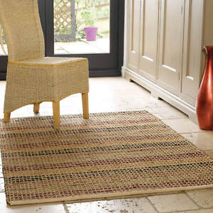 Image Is Loading Natural Living Flatweave Seagr Rugs Woven Striped Patterned