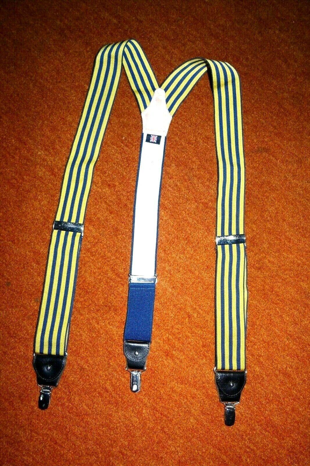 Englische Hosenträger Luxus ALBRT THURSTON Y-Form Ledergarnituren Streifen