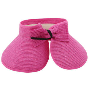 f7ba91cae5167 Elegant Wide Brim Foldable Roll Up Beach Summer Hat Sun Visor Cap ...