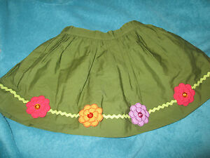 Sweet 4t/4 Htf Without Return Motivated Nwt Gymboree Flower Swing Skirt