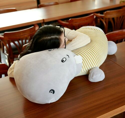 Down Cotton Hippo Soft Toy Comfortable Giant  Hippo Stuffed Animal Pillow Doll