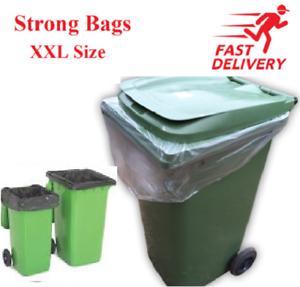 Black Clear Wheelie Bin Liners Bags Refuse Sacks Strong Bin Liner XXL Size
