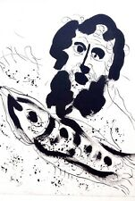 Marc Chagall offset lithograph Bible  paris maeght 1960 original 85 2 sided