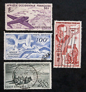 col1 Yvert Und Tellier Luft-n°11 à 14 Gestempelt Stetig Briefmarke Aof Briefmarke