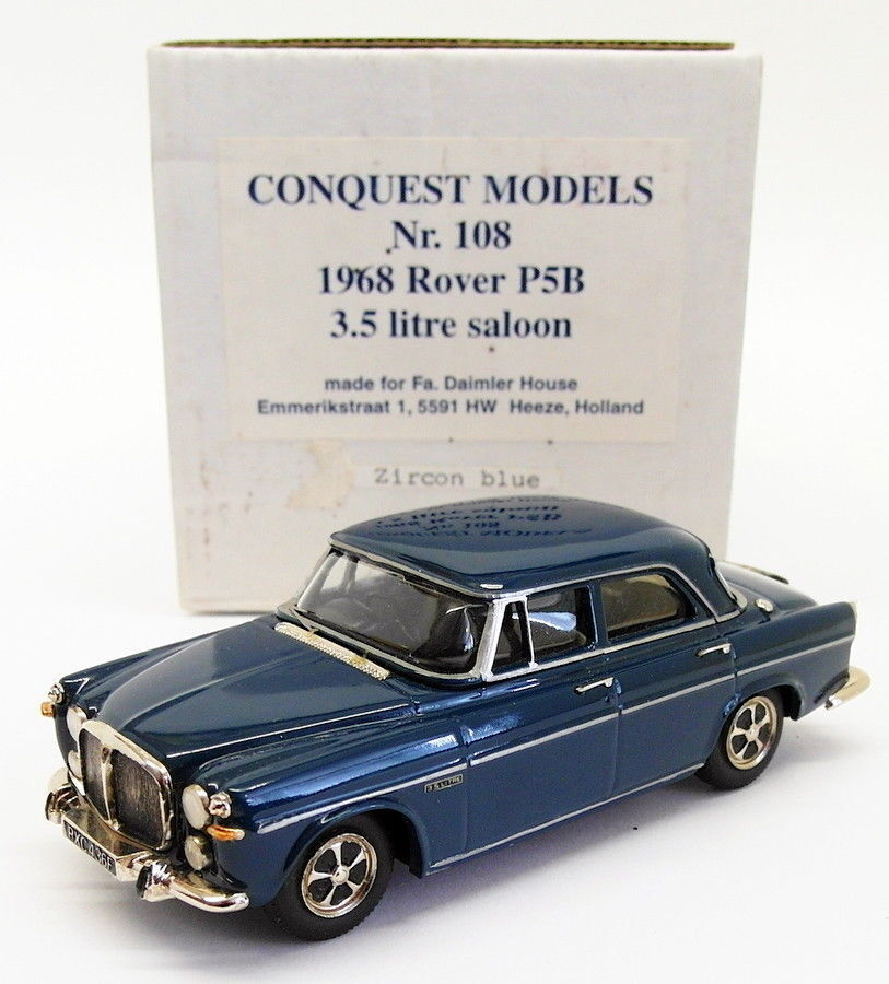 Conquest Models 1 43 Scale 108 - 1968 Rover P5B 3.5L Saloon - Zircon bluee