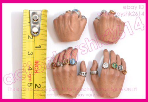 hands X4 pcs 1//6 Scale Hot Toys MMS211 Iron Man 3 The Mandarin