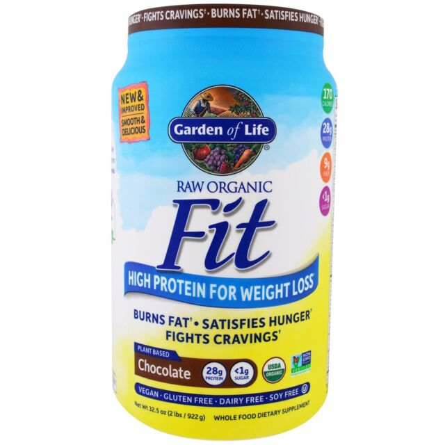 Garden of Life Raw Organic Fit High Protein For Weight Loss Vegan Chocolate 922g