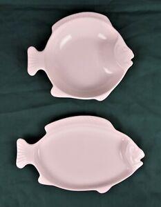 Vintage-Pfaltzgraff-Heritage-White-Seafood-Bake-N-Serve-13-034-Fish-Platter-Set