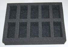 10 Compartment Foam Tray Case Insert for Games Workshop Wargames Models GW Case