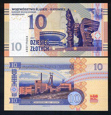 Poland, Katowice, 10 Zlotych , Private Issue, Specimen, Essay, 2017, UNC