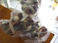 Stephan Plush Teddy Bear Bow 10 Soft Baby Lovey Camo 192825