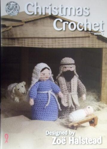 King COLE NAVIDAD libro de ganchillo 3 Pesebre Natividad Conjunto guirnaldas Juguetes Decoraciones Corona