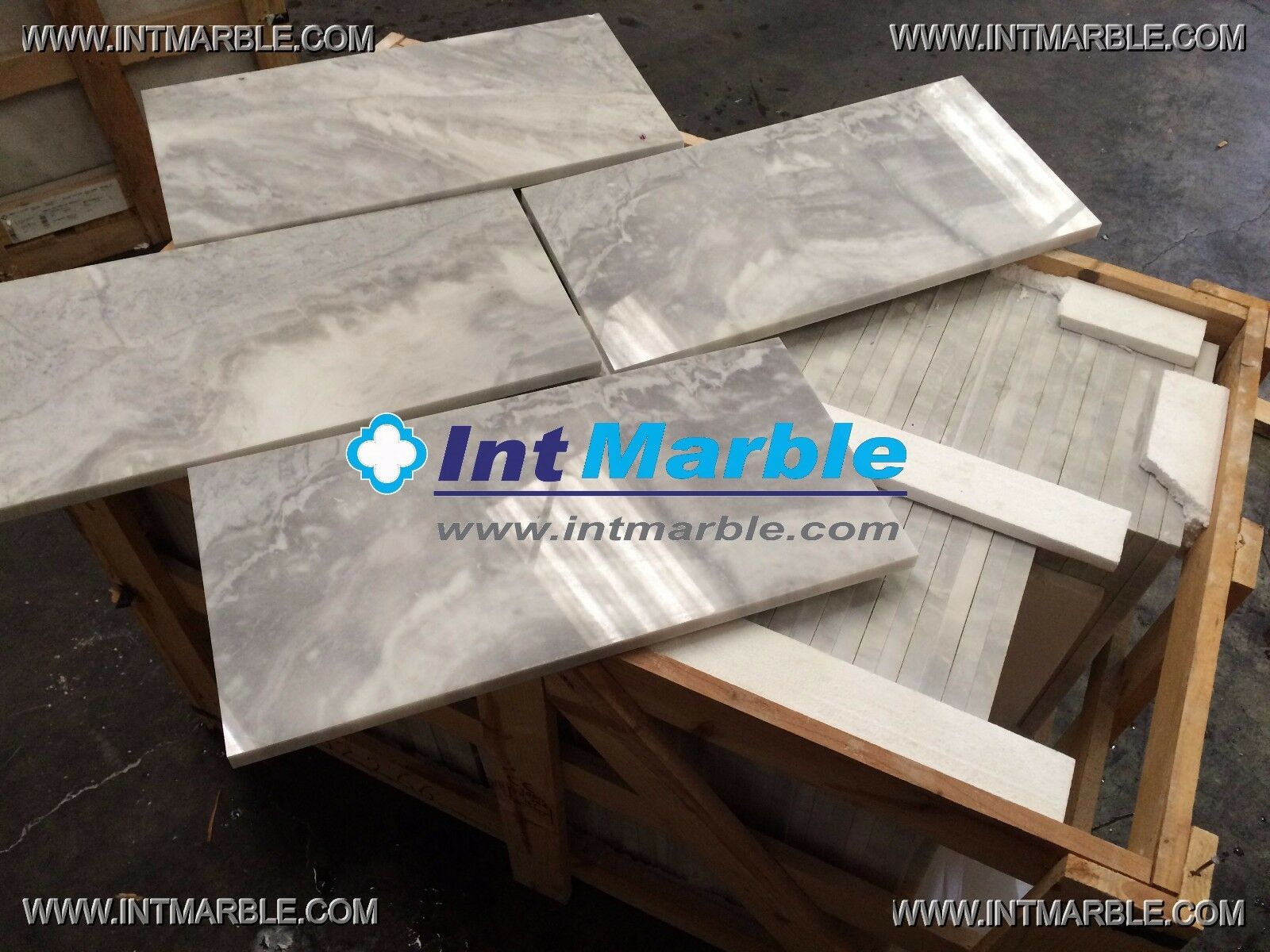 Bardiglio Marble, Polished Marble Tile, Floor Wall Marble, Limestone, 300x600mm