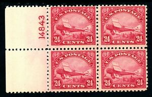 USAstamps-Unused-FVF-US-Airmail-Plane-Plate-Block-Scott-C6-OG-MNH-Fresh