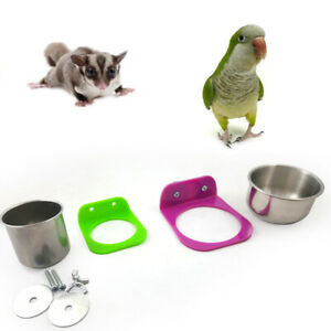 Stainless-Steel-Food-Water-Feeding-Bowl-Cup-Bird-Parrot-Feeder-Pet-Cage-Supplies