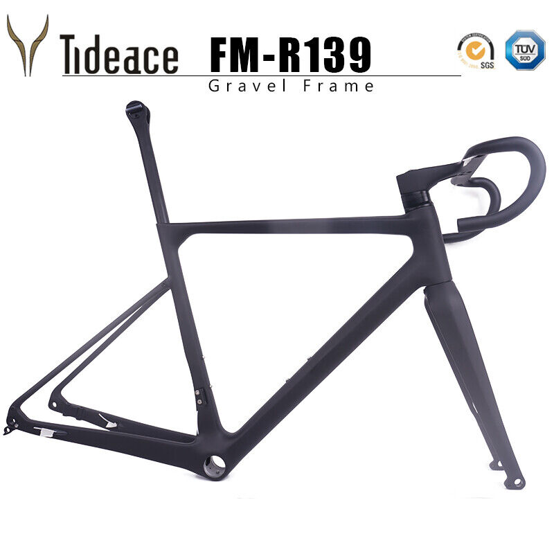 Gravel Road Racing Bike Frame FM-CX139 Hidden Cables T800 Bicycle Frame 70035C