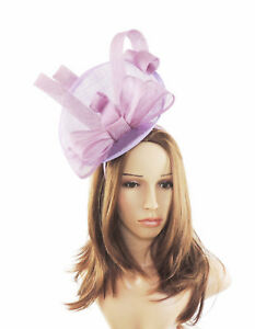 Image is loading Lilac-Fascinator-Hat-For-Weddings-Ascot-Kentucky-E6 d709b00fcb8