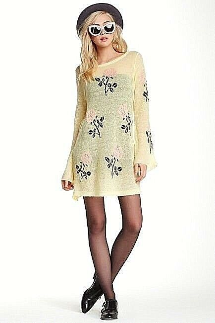 NWT WILDFOX COUTURE Just For You Swinger sweater dress, size S, butter cup