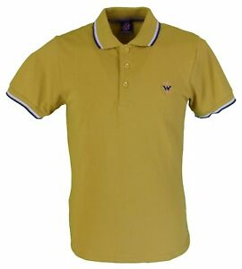 À Hommes RayuresEbay Warrior Polo Jaune Moutarde Double Col 92DIWEHY
