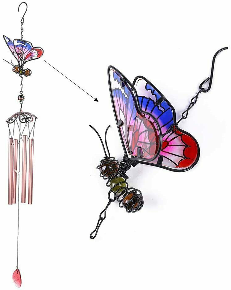 3D Butterfly Wind Chimes Windchime Garden Chimes Outdoor Metal Home Garden Decor