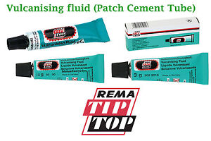 REMA-TIP-TOP-VULCANIZING-FLUID-CEMENT-tubes-patches-cycles-SVS-VULC-Patch-glue