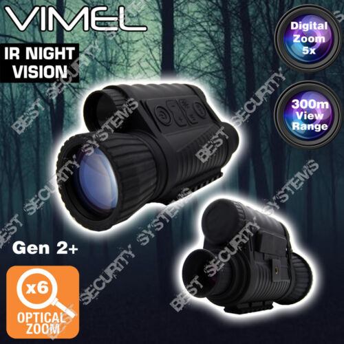 Monocular Night Vision Digital Camera Goggles Hunting Binocular Security Recorde