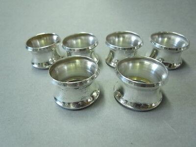 6 Massiver Sterlingsilber Serviertenringe / Servierten Ringe, 925 Silber Modische Muster