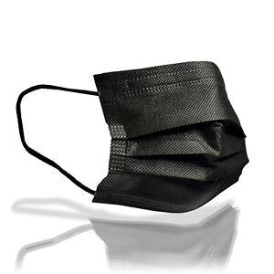 1-50x-Einweg-Behelfs-Gesichtsmasken-Mund-Nasen-Bedeckung-Community-Maske-schwarz