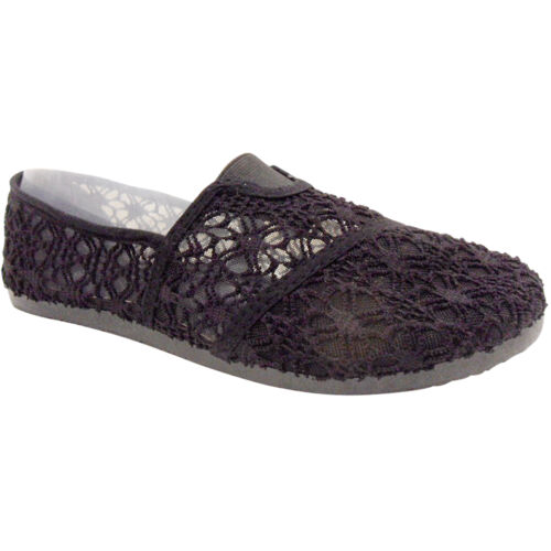 Nouveau Haut Femmes Dentelle Dentelle Crochet Chaussures Escarpins à Enfiler Été Rétro Taille