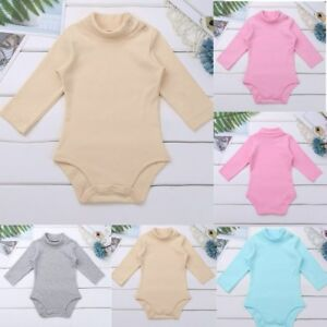 Baby Turtleneck Long Sleeve Bodysuit Winter Vest
