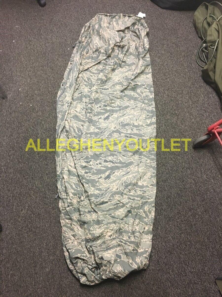 USGI Gortex Wasserdicht Bivy Abdeckung MSS Schlafsack System Tiger Stripe Camo NEU
