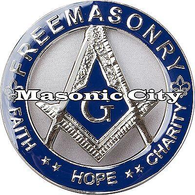 A-306 Masonic Auto Emblem FreeMasonry Car Lodge Mason Freemason PHA AF/&AM F/&AM