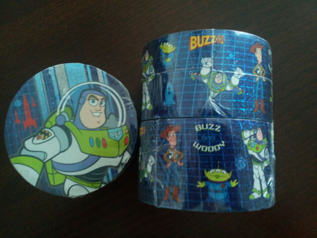 3 Disney Toy Story Sticker Rolls W/ 35 Stickers - Buzz Woody Alien