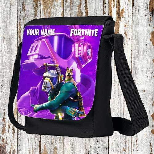 Fortnite Shoulder Bag DJ Yonder New Skins Season 6 Personalized Name FREE gift