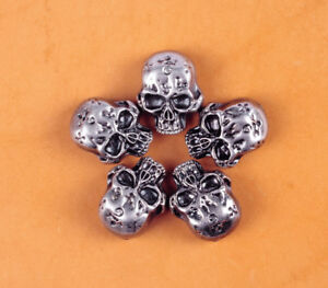 32X26MM-10pcs-Skull-Head-Floral-Rivetback-Concho-Antique-Silver-for-Saddle-Bag