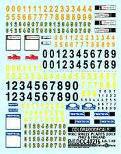 Colorado Decals 1/43 WRC RALLY PLATES 2013 ITALY & FINLAND