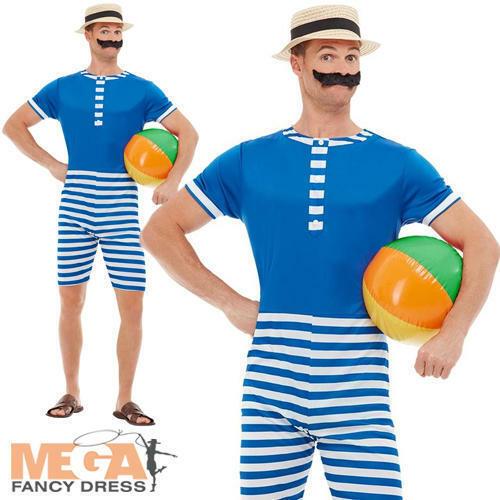 20s Traje De Baño Para Hombre Vestido Elaborado Disfraz Adultos Natación Playa Vintage 1920s-ver Para Vigorizar La Salud Con Eficacia