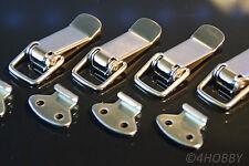 4 Stück Edelstahl Spannverschluss - Kistenverschluss, Klapp-,Hebel-Verschluss