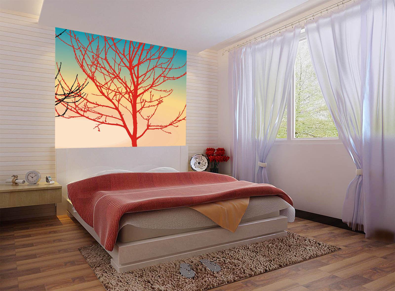 3D Roter Kunstbaum 578 Tapete Tapeten Mauer Foto Familie Tapete Wandgemälde DE
