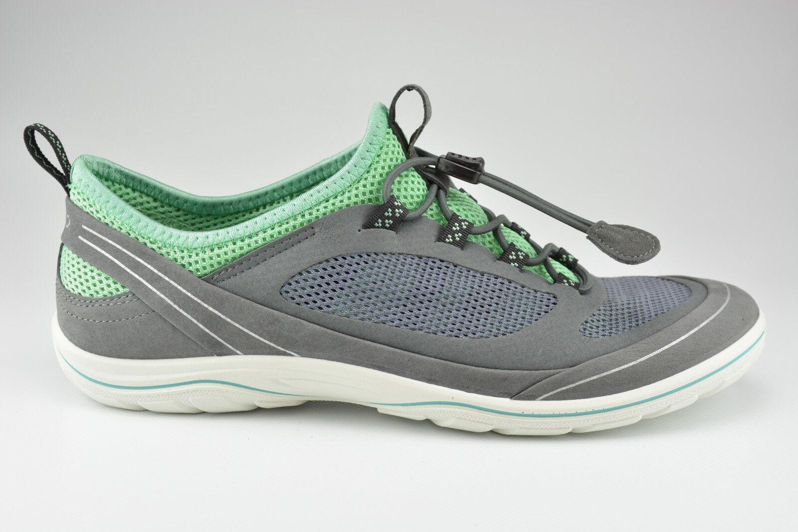 Ecco Schuhe grün Damen Schnürer Echtleder Nubukleder Arizona grau grün Schuhe 3d84bc