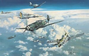 Headlong into the Clash by Robert Taylor signed by Luftwaffe & US Fighter Aces