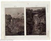 Merkwürdige Brücken - Amerika-America - Kupferstich-Bertuch 1800