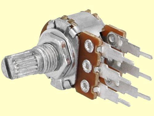 Poti Potentiometer linear stereo 50K  125mW Achslänge 1 pc 9mm
