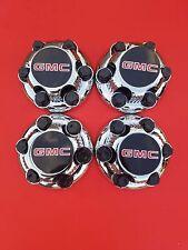 "NEW 4 PCS GMC Sierra Yukon Savana 6 Lugs1500 CHROME CENTER HUB CAP16"" 17"" Wheels"