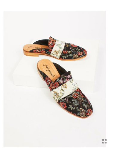 Free People Women's Brocade Brocade Brocade At Ease Loafer- Floral- Size 39 7f1129