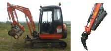 Hydraulic digger excavator log  landscaping grapple thumb grab 2.7t -4 ton