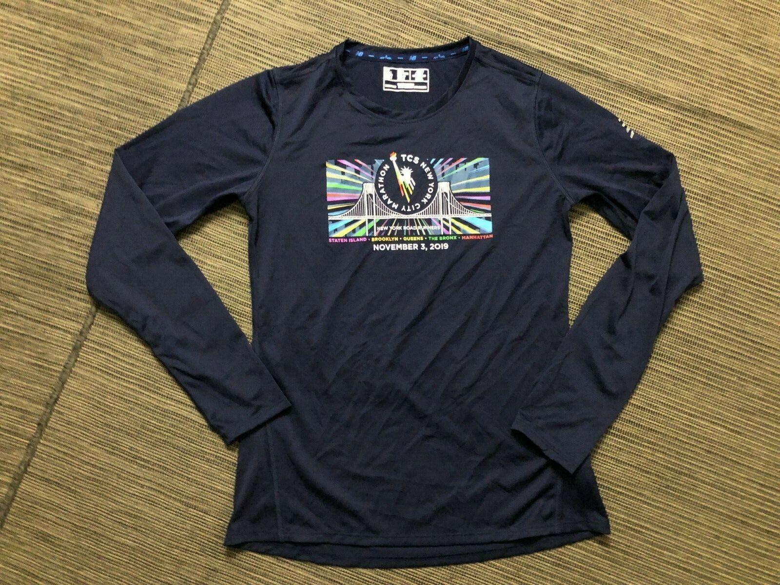 New Balance Womens Small TCS NYC Marathon 2019 Long Sleeve Shirt Top