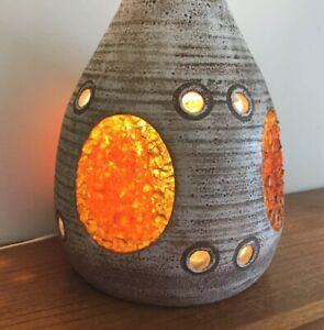 Détails sur Pied de lampe de sol résine faïence ACCOLAY,design vintage,céramique 50 60 70 80